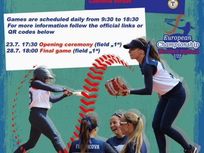 invite ME U22 softball U22 ženy